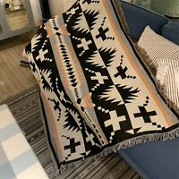 Ethnic Tribe Navajo Indian Sofa Cover Cotton Throw Blanket Picnic Rug Tapestry