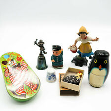 Vintage Antique Toy Disney Mickey Bell Police Sharpener Water Lady Italy Nesting