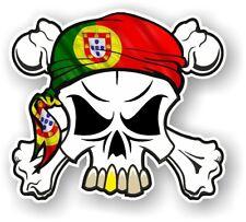 Crâne & Crossbones + Head Bandana Portugal Portugais Drapeau Vinyle Autocollant Voiture