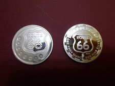 Biker Motorcycle Route 66 1oz .999 Silver Coin To Celebrate Your Ride