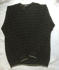 Hermes Mens Grey Wool Crewneck Sweater Size XXL