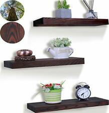 Rustic Wood Floating Shelves Farmhouse Wooden Handcrafted Wall Shelf Set of 3