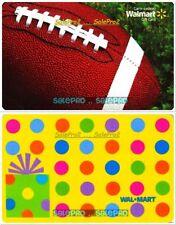 2x WALMART POLKA DOTS & NFL FOOTBALL USA / CANADA RARE COLLECTIBLE GIFT CARD LOT