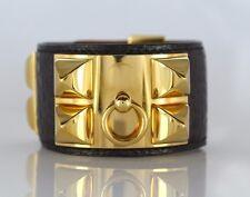 HERMÈS Collier De Chien 18K Yellow Gold Electricity Plated Alligator Bracelet