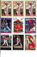 LOT OF (62) Barry Larkin Baseball Cards w/ Rookie RC Cincinnati Reds HOF - WOW!