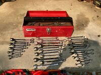 Vintage Set - Combination Open End Box Wrench  WITH Tool BOX