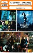 FICHE CINEMA : RESIDENT EVIL : APOCALYPSE - Jovovich,Guillory,Witt 2004