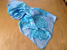 VINTAGE JACQMAR HAND ROLLED FLORAL SILK SCARF.  29 x 28 INCHES.  PRETTY!