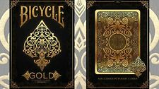 Bicycle Gold Deck by US playing Cards - Collectable poker cards