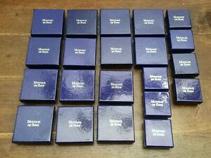 Lot de 21 Coffrets Boîtes pour Medaille Collection Numismatique Monnaie de Paris