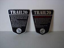 Honda TRAIL70 CT70 KO OE Style 2pc. Side Frame IMPORTANT Vinyl Decal Set 69-71