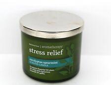 BATH & BODY WORKS AROMATHERAPY STRESS RELIEF EUCALYPTUS SPEARMINT 14.5 OZ CANDLE