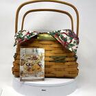 Longaberger Christmas Collection Deck the Halls Basket Cloth Liner Plastic Liner