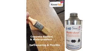 KoverTek G40 Concrete Wall Floor multi Sealer seals Damp Cellar garages roofs