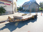 L.O.E. 16' Utility Equipment Trailer Wood Deck Ramps Tandem Axle bidadoo
