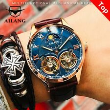 AILANG Original design watch men's double flywheel automatic mechanical watch
