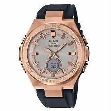 Casio Women's G-ms Msgs200g-1a Watch Rose Gold Black Timepiece Sports Active