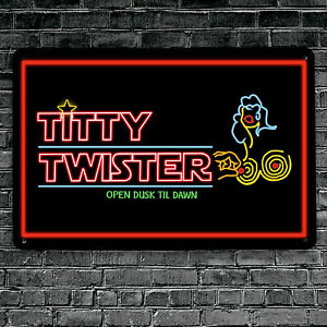 The Titty Twister Vampire horror movie inspired A4 Metal Sign