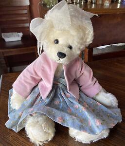 Artist teddy bear OOAK collectible, handmade by Donna Griffin Mohair