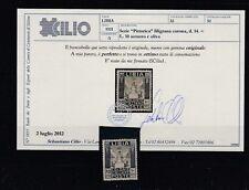 FRANCOBOLLI - 1921 REGNO COLONIA ITALIANA LIBIA PITTORICA L.10 MLH B/3535