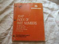 1986 International trucks index of part numbers manual