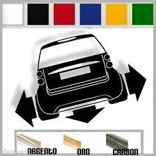 adesivo sticker SMART TWO  tuning down-out dub prespaziato,auto