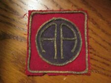 "WWI US Army 82nd Division ""All American"" patch AEF"