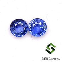 Natural Blue Sapphire Round Cut 3 mm 3.96 Cts Lot 26 Pcs Faceted Loose Gemstones