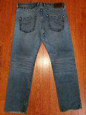 Diesel Belther Sz. 36 Men's Denim Blue Jeans Wash: 0815A Button-Fly Slim Tapered