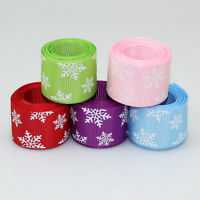 """1"""" 25mm Quality Snowflake Grosgrain Ribbon Craft supplies Wholesale price"""