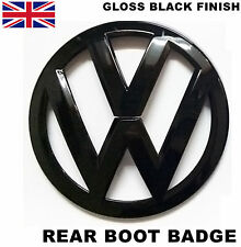 VW GLOSS BLACK REAR BOOT BADGE EMBLEM LOGO GOLF MK5 GTI GT R32 TDI FSI 110mm