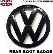 VW GLOSS BLACK REAR BOOT BADGE EMBLEM LOGO GOLF MK5 GTI GT R32 TDI FSI 110mm