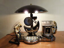 STUNNING VINTAGE KITSCH NOVELTY DESK TELEPHONE,LAMP,CLOCK,MUSIC BOX
