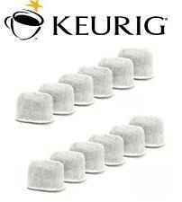 (12) GENUINE Keurig Coffee Charcoal Water Filter Cartridges Replacement Fits 2.0