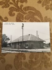 Santa FE Train Depot Custer City Oklahoma Postcard Real Photo RPPC Unique Union?