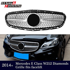 Diamond Silver Grille front Grill for Mercedes Benz W212 E Class E350 E550 2014+