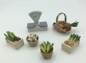 Dolls House Grocery Shop Scales And Vegetables