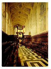 King's College Chapel Cambridge England UK Postcard Interior Looking West Unpost