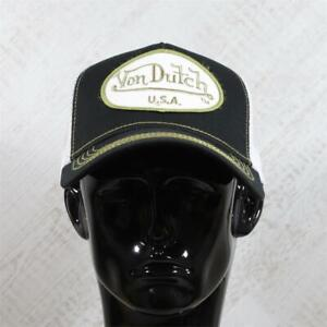 Mens Von Dutch Trucker Cap Black/Gold 114498 (G1) RRP £29.99