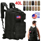 40L Military Molle Tactical Backpack Rucksack Camping Hiking Bag Outdoor Travel