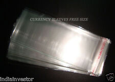 1000 pc thin plastic sleeves ~ non acidic ~ All weather protection for notes