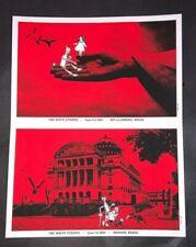 WHITE STRIPES Rob Jones Original Mini Poster Set Brazil 2005 Wizard Of Oz SIGNED