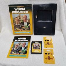 ⭐Worm Whomper Intellivision Video Game 100% Complete w/ Overlays Authentic⭐👀