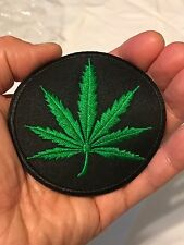 Cannabis Weed Marijuana Hemp Leaf Embroider DIY Iron-On Morale Biker Patch 402