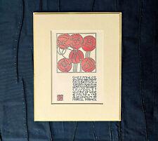 1977 CHEZ PANISSE SECOND BIRTHDAY CELEBRATION DAVID LANCE GOINES LITHO CARD LN