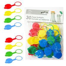 30 Tappi in Plastica Colorati Per Bottiglie Vetro Tappo Vino Salsa Conserve 332