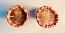 TWO COMPLETE ROLLS OF LINCOLN CENTS 2009 P AND 2009 D NEVER OPENED UNCIRCULATED!