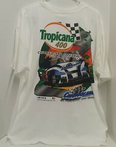 VINTAGE NASCAR TROPICANA 400 JULY 15 2001 RACE TSHIRT -ADULT SIZE XL **NEW**