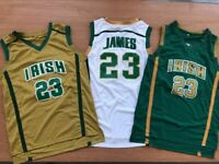 Lebron James St Vincent St Mary Irish High School Swingman Basketball Jersey