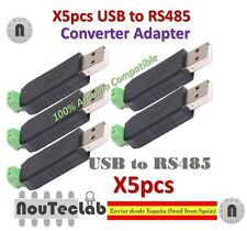 5pcs USB to RS485 485 Converter Adapter Support Win7 XP Vista Linux Mac OS